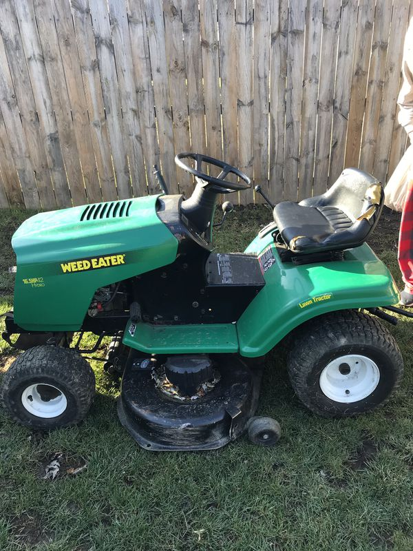 42â? Weed Eater Riding Lawn Mower with Cart for Sale in ...