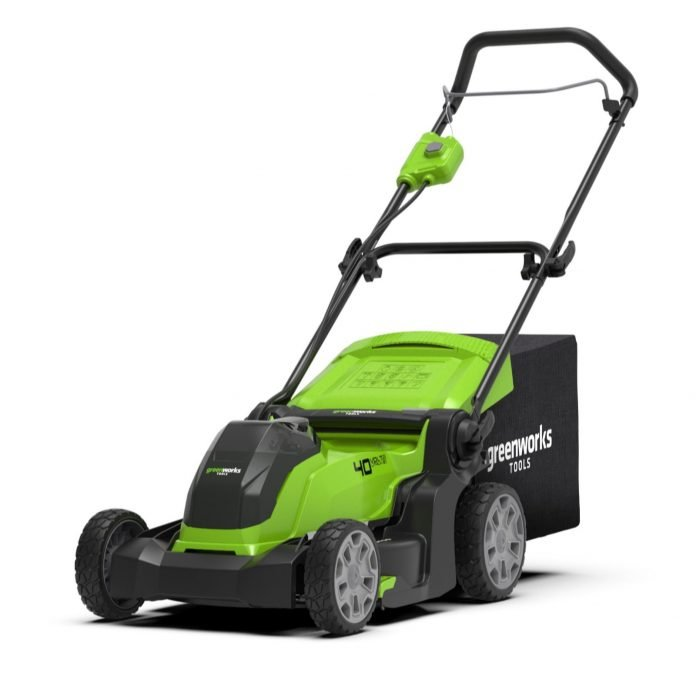 greenworks 40v 41cm cordless lawn mower with 2 0ah battery