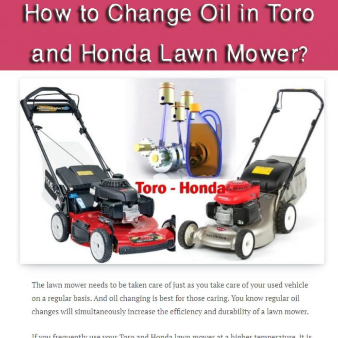 how to change oil in toro and honda lawn mower pdf docdroid