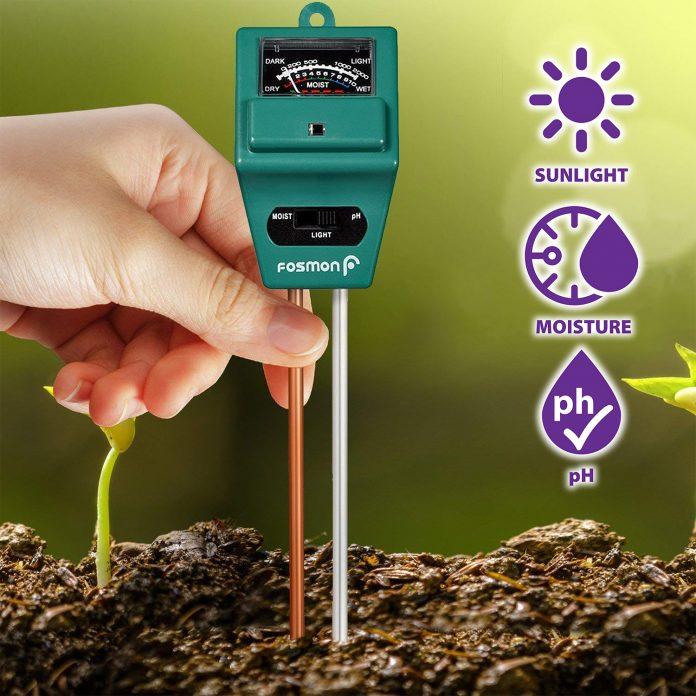 soil tester meter fosmon 3 in 1 ph meter soil sensor for