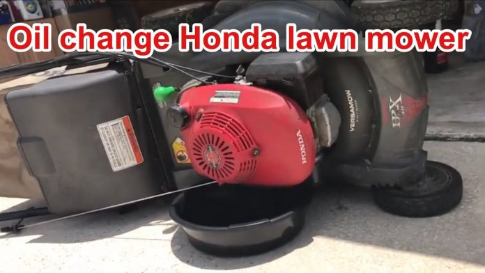 y oil change for honda lawn mowerthay nhat cho may cao t ca